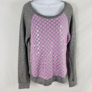 Victoria's Secret Sweater Polka Dot Raglan Sleeve